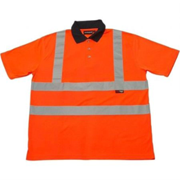Picture of HI VIS POLO SHIRT SHORT SLEEVE