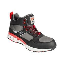 Active S1P safety boots - BOOT ACTIVE S1P BLACK/RED 46