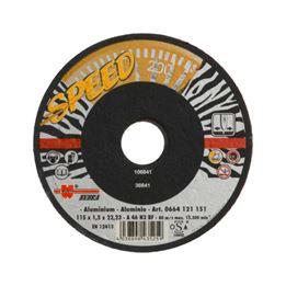 Speed cutting disc for non-ferrous metals/aluminium - CUTDISC-SP-YELL-ALU-SR-TH1,5-BR22,2-D115