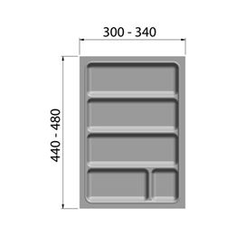Cutlery insert - CTLINRT-WHITE-CORPUS-400MM