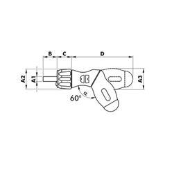Pistol grip ratchet magazine screwdriver - SCRDRIV-HNDLHOP-PISTOL-RTCH-LED-EMPTY