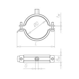 Pipe clamp TIPP<SUP>®</SUP> Robust - C2C - PIPCLMP-ROBUST-M10/12-(275-285MM)