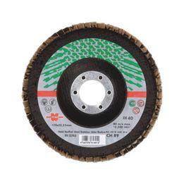 Segmented Grinding Disc For Stainless Steel - FLPDISC-ZC-CLTH-DOMED-BR22,23-G80-D115